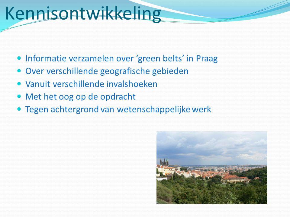 Kennisontwikkeling Informatie verzamelen over 'green belts' in Praag