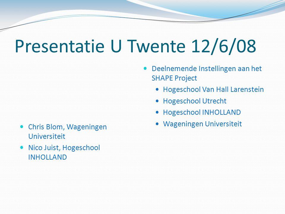 Presentatie U Twente 12/6/08