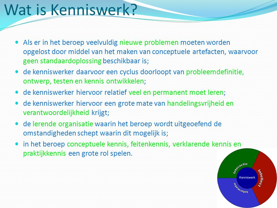 Wat is Kenniswerk
