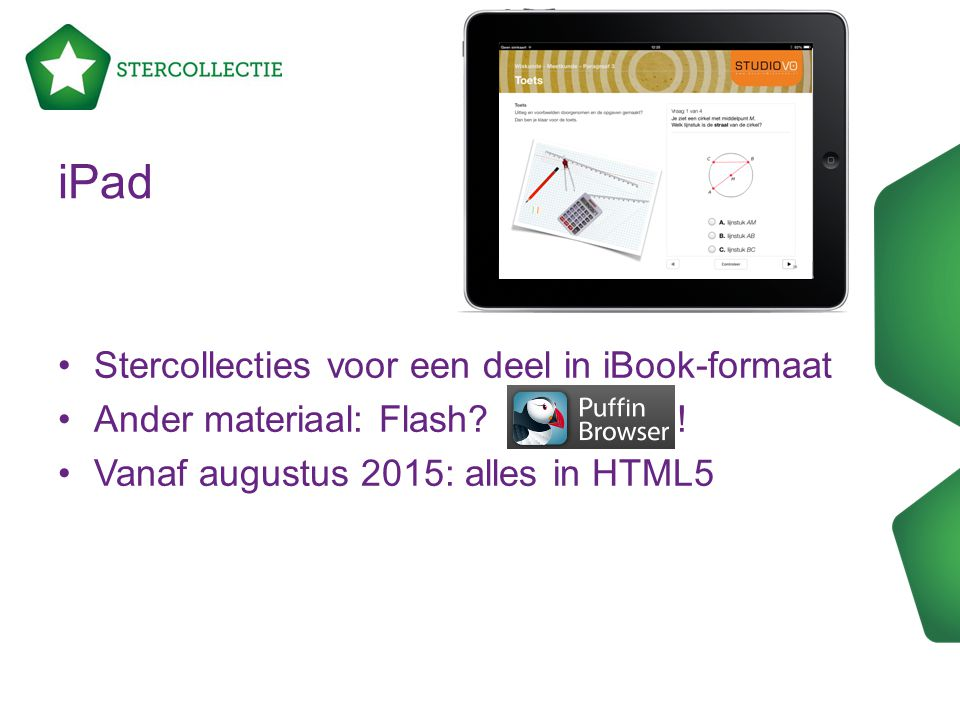 iPad Stercollecties voor een deel in iBook-formaat