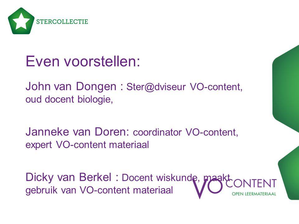 Even voorstellen: John van Dongen : Ster@dviseur VO-content, oud docent biologie,