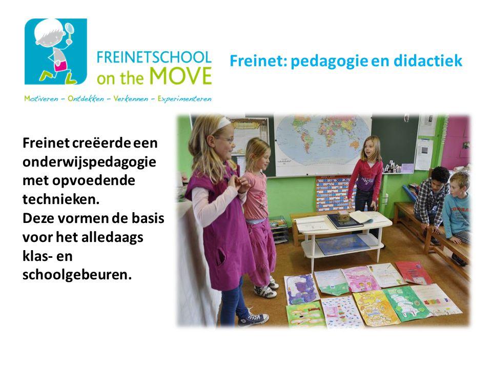 Onze schoolwerking Freinet: pedagogie en didactiek