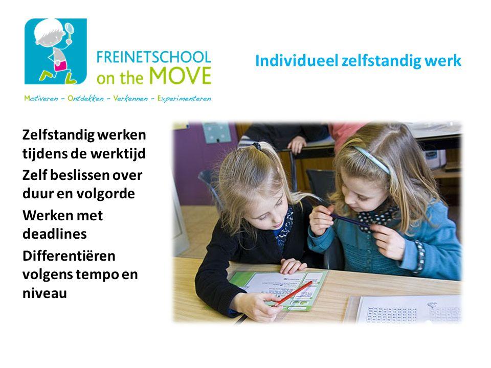 Onze schoolwerking Individueel zelfstandig werk