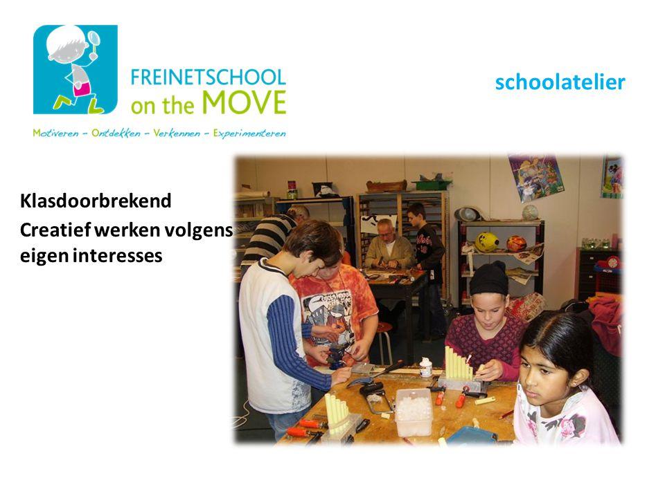 Onze schoolwerking schoolatelier Klasdoorbrekend