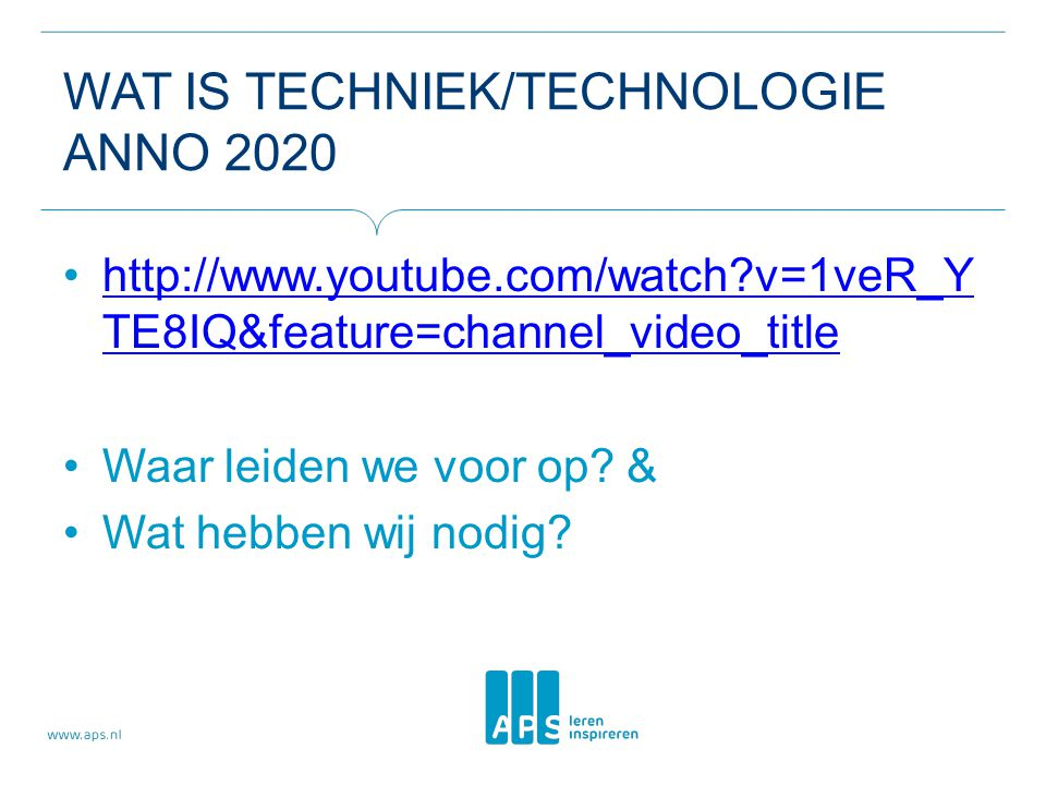 Wat is techniek/technologie anno 2020