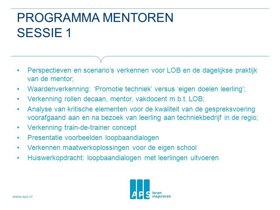 Programma mentoren sessie 1