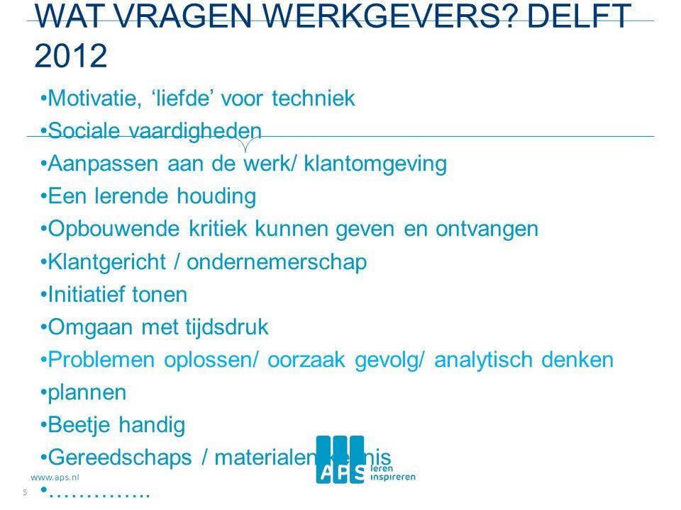 Wat vragen werkgevers Delft 2012