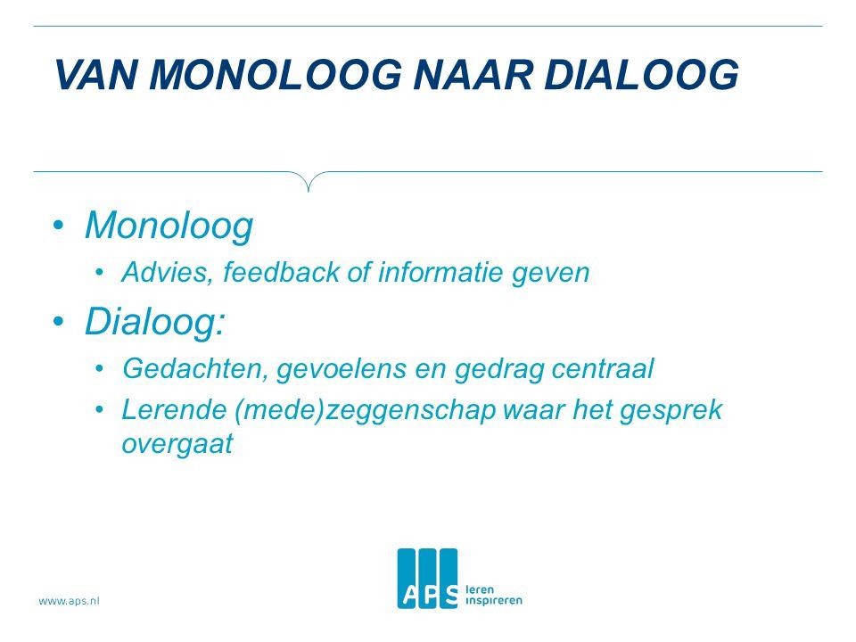Van monoloog naar dialoog