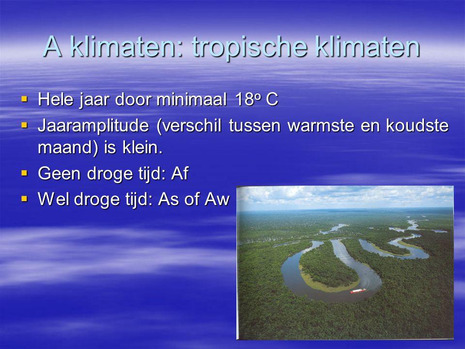 A klimaten: tropische klimaten
