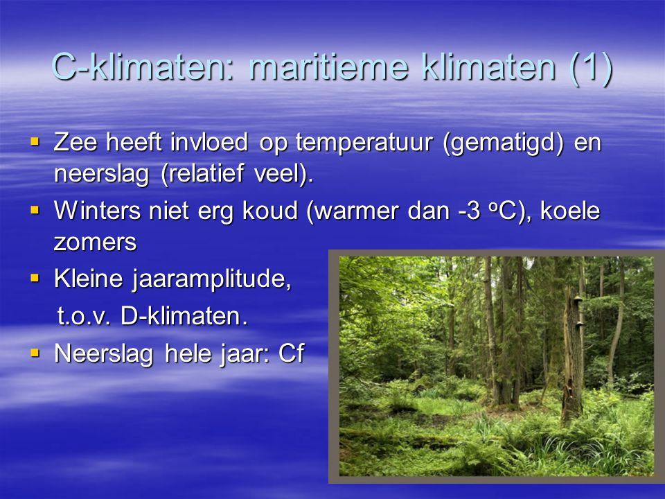 C-klimaten: maritieme klimaten (1)
