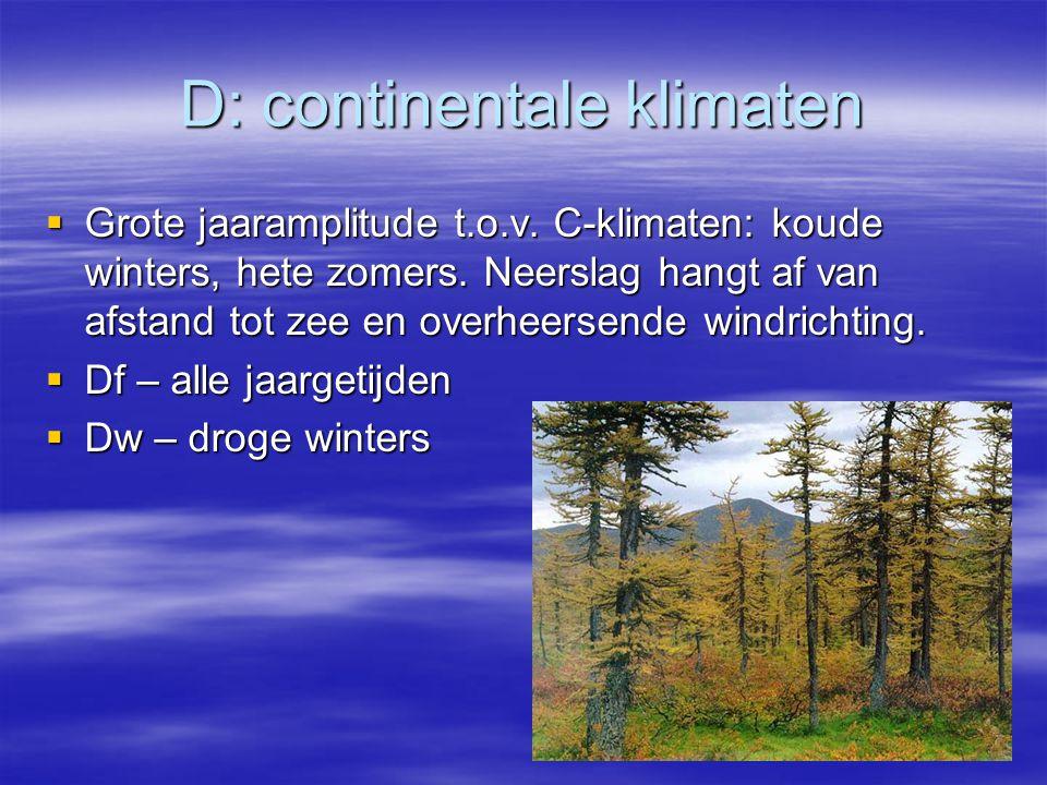 D: continentale klimaten