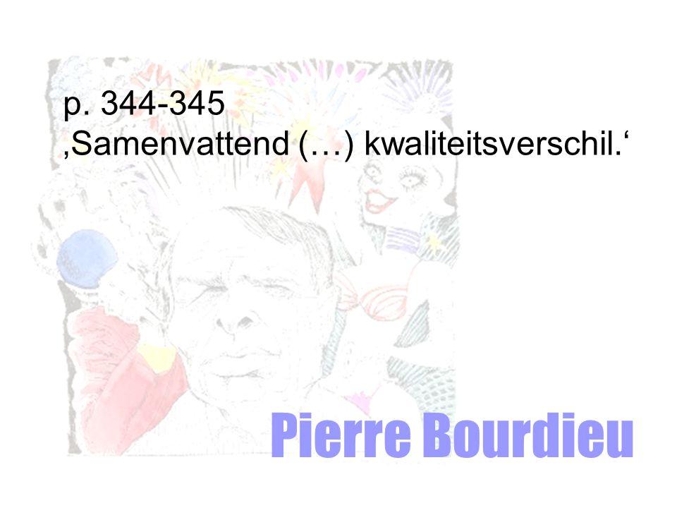 p. 344-345 'Samenvattend (…) kwaliteitsverschil.' Pierre Bourdieu