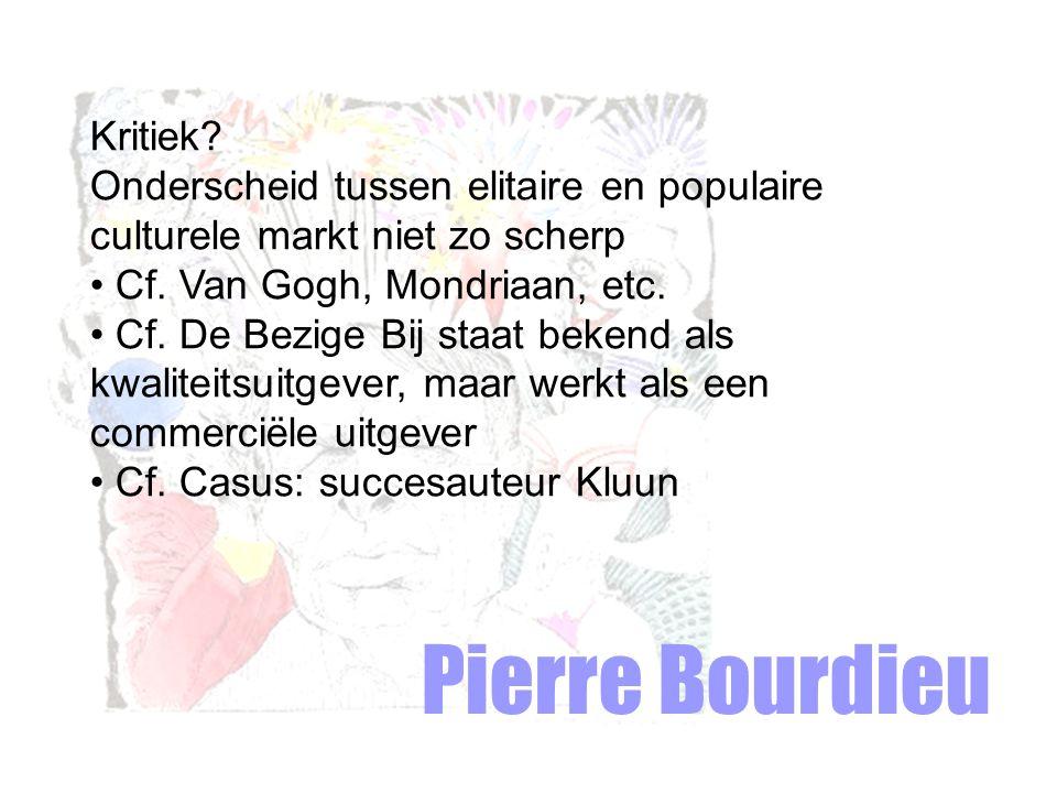 Pierre Bourdieu Kritiek