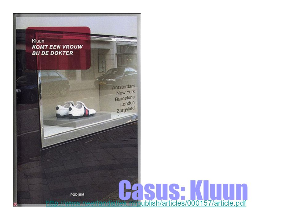 Casus: Kluun http://www.neerlandistiek.nl/publish/articles/000157/article.pdf