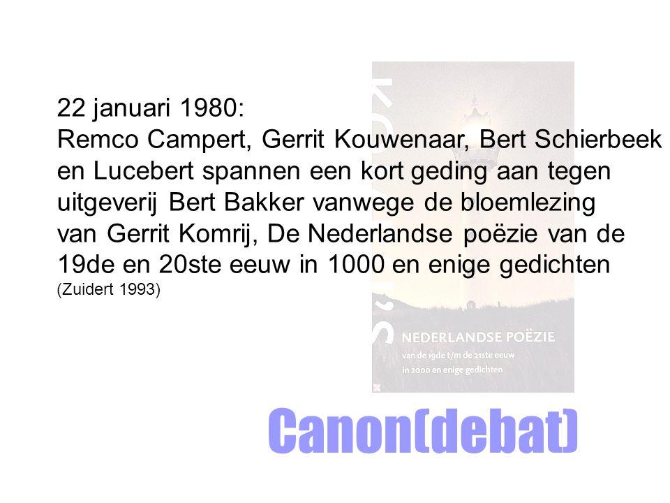 Canon(debat) 22 januari 1980: