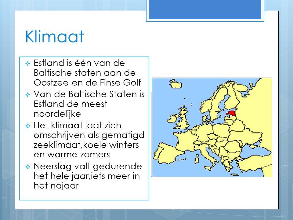 Klimaat Estland is één van de Baltische staten aan de Oostzee en de Finse Golf. Van de Baltische Staten is Estland de meest noordelijke.