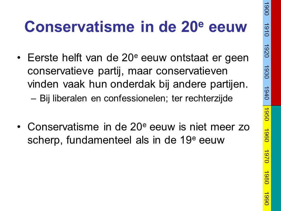 Conservatisme in de 20e eeuw