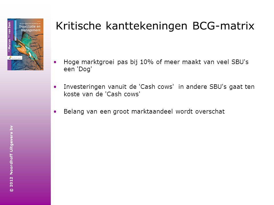 Kritische kanttekeningen BCG-matrix