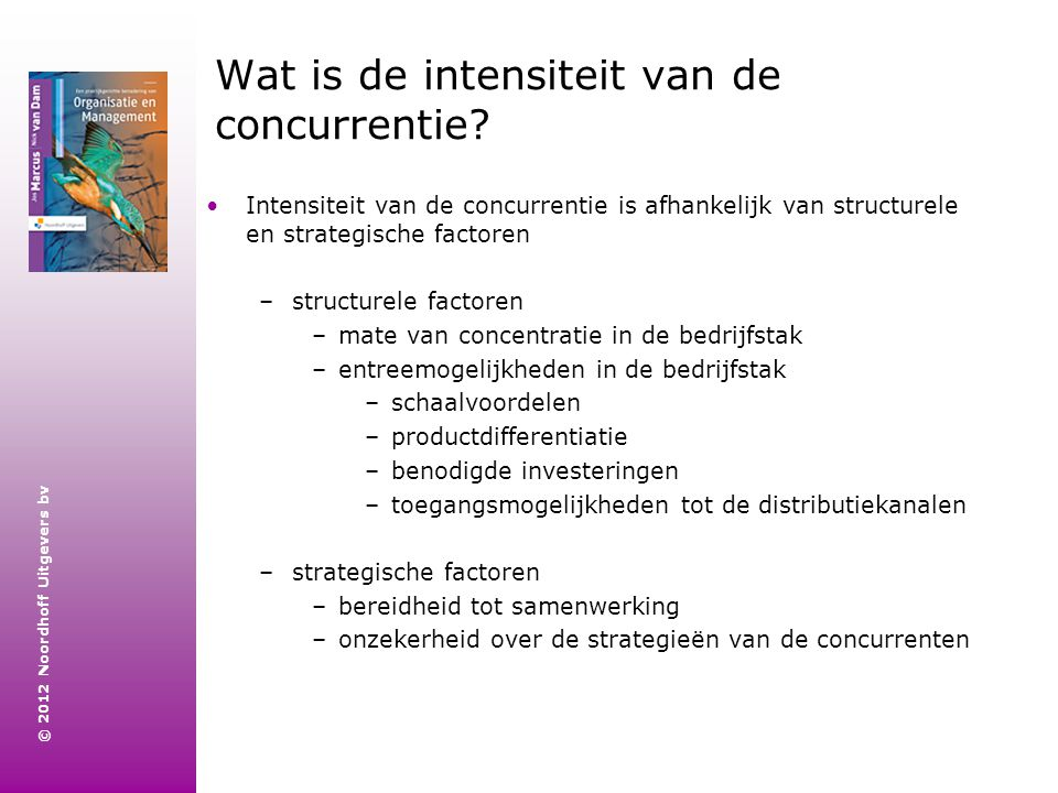 Wat is de intensiteit van de concurrentie