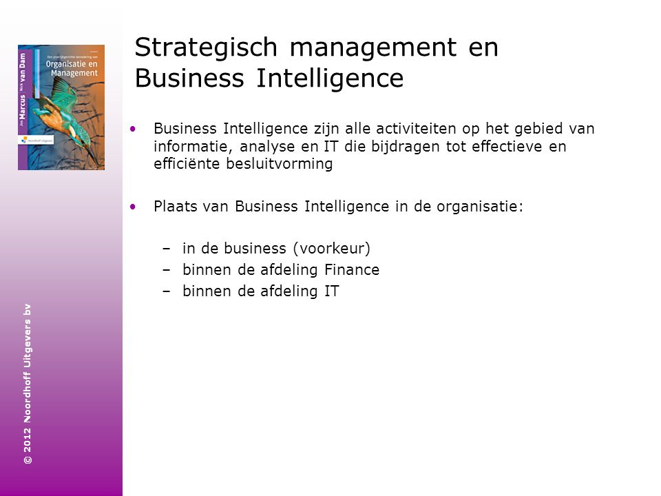 Strategisch management en Business Intelligence