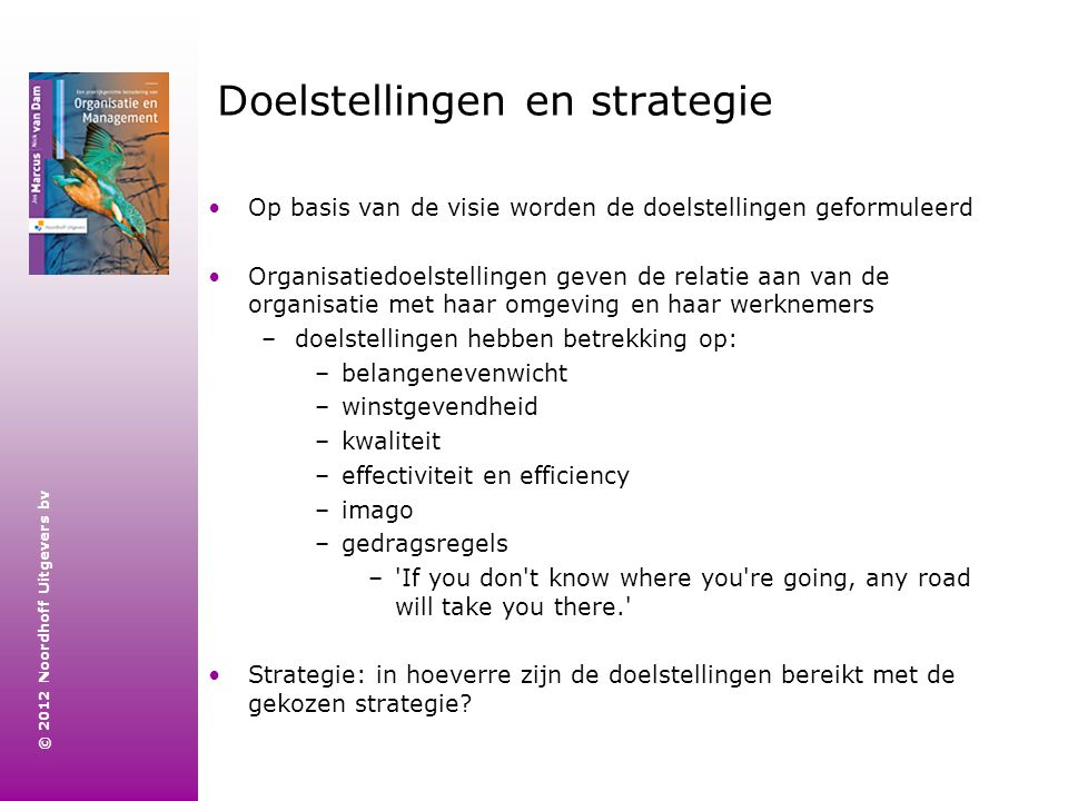 Doelstellingen en strategie