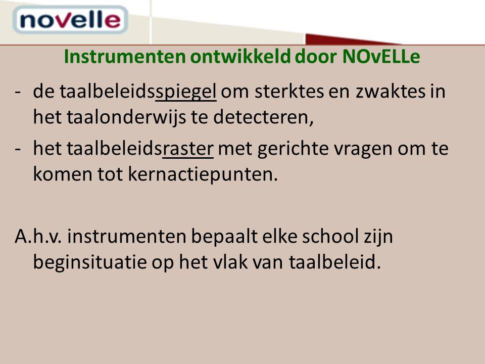 Instrumenten ontwikkeld door NOvELLe
