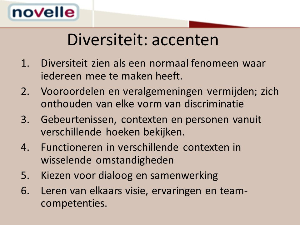 Diversiteit: accenten