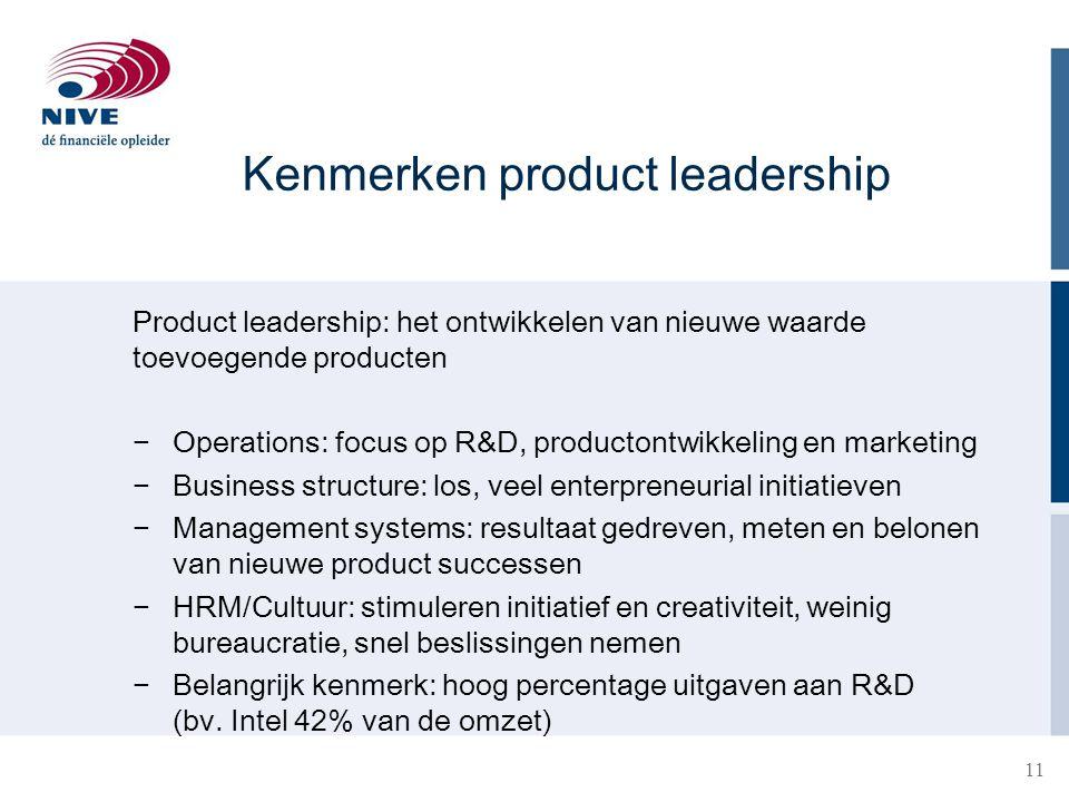Kenmerken product leadership