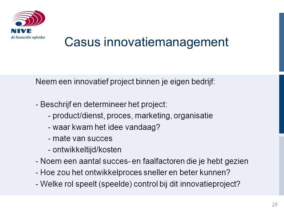 Casus innovatiemanagement