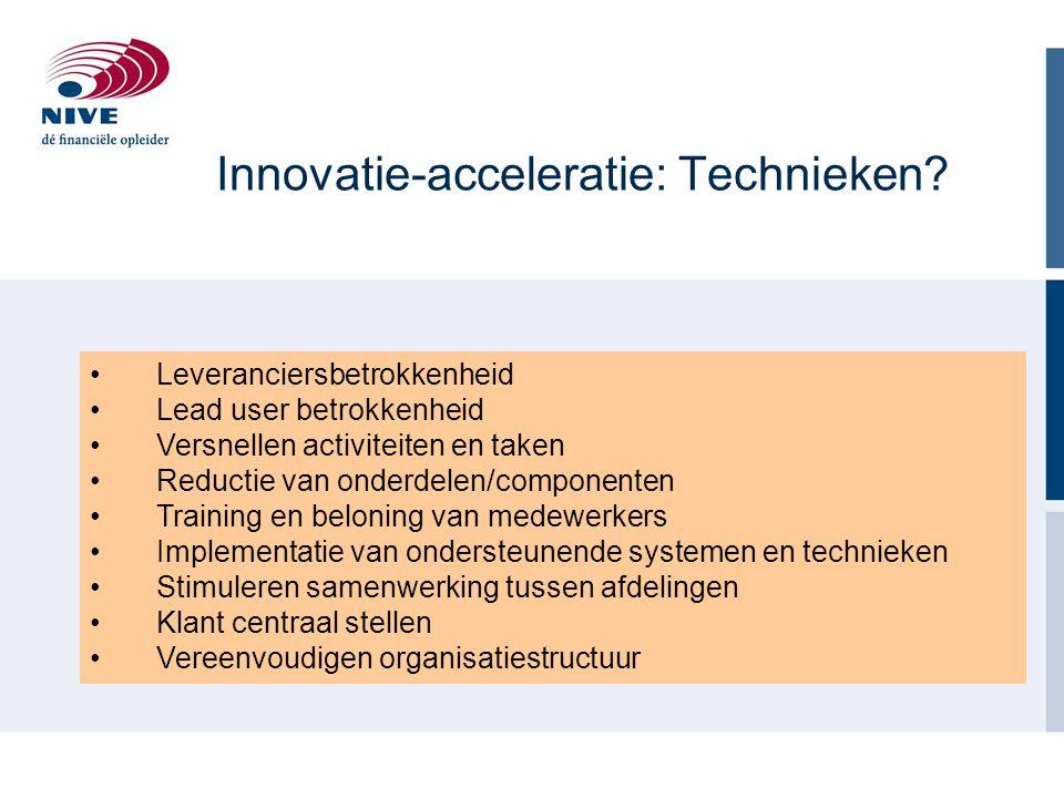 Innovatie-acceleratie: Technieken