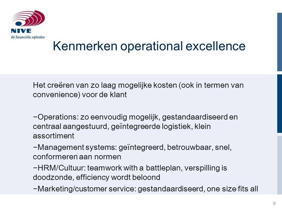 Kenmerken operational excellence