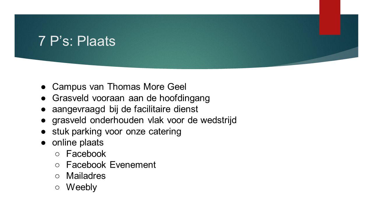 7 P's: Plaats Campus van Thomas More Geel