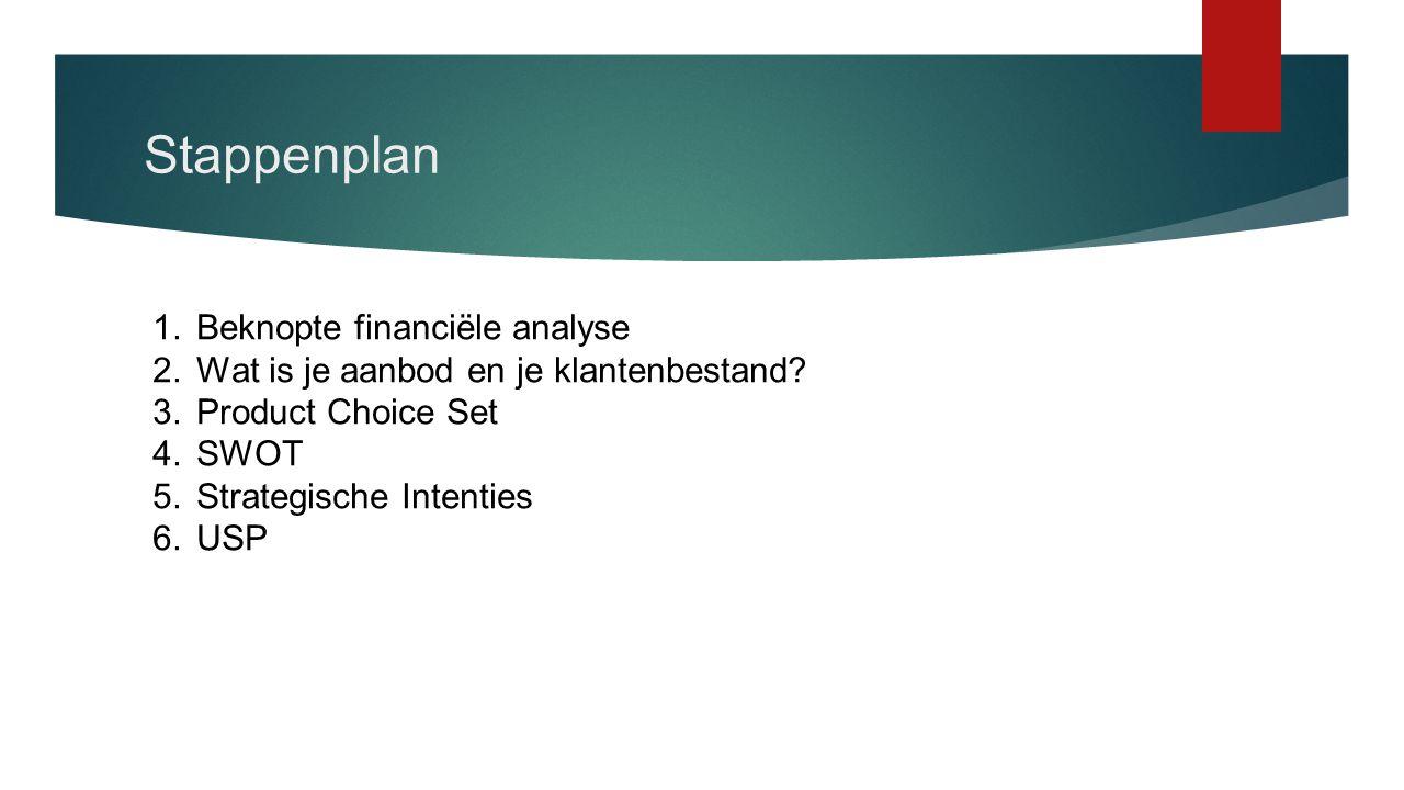 Stappenplan Beknopte financiële analyse