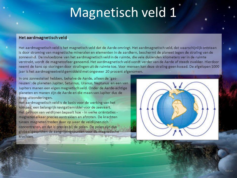 Magnetisch veld 1 Het aardmagnetisch veld