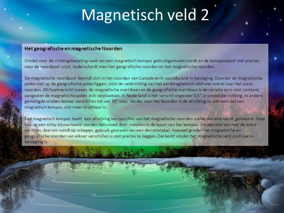 Magnetisch veld 2 Het geografische en magnetische Noorden