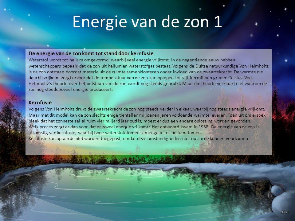 Energie van de zon 1