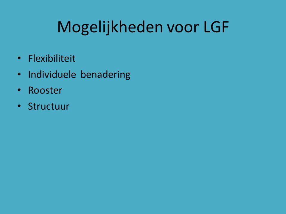 Mogelijkheden voor LGF