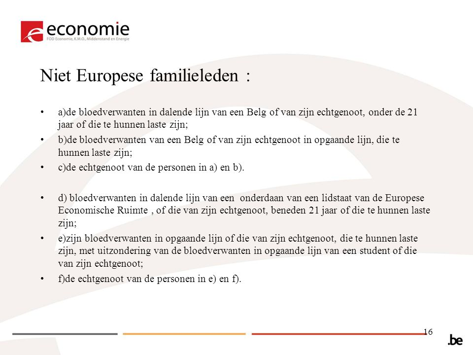 Niet Europese familieleden :