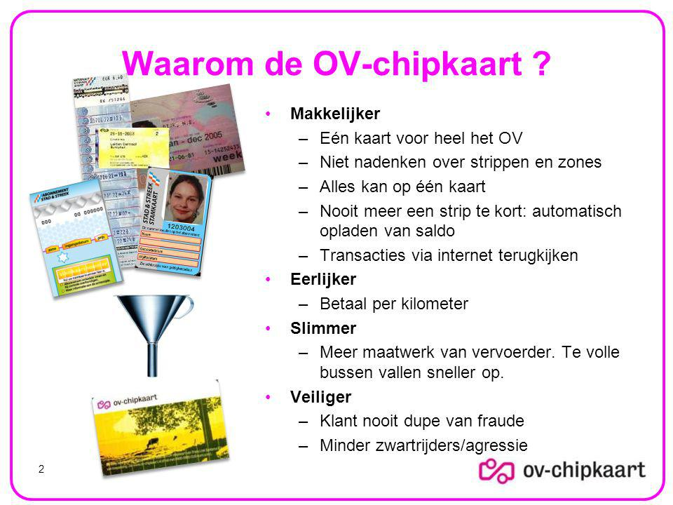 Waarom de OV-chipkaart