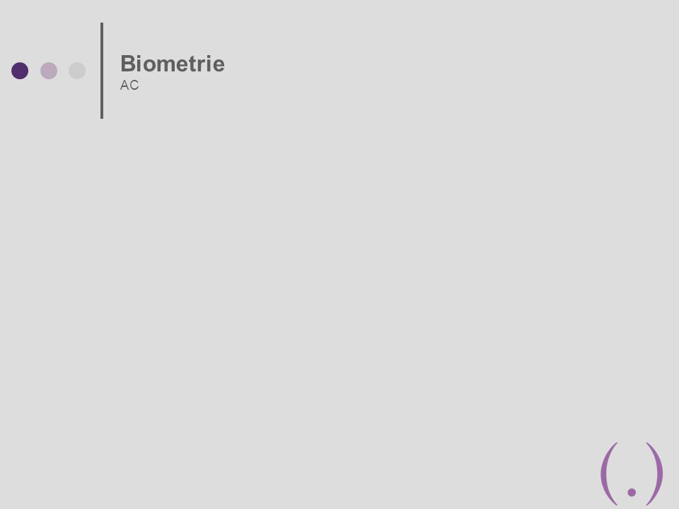 Biometrie AC