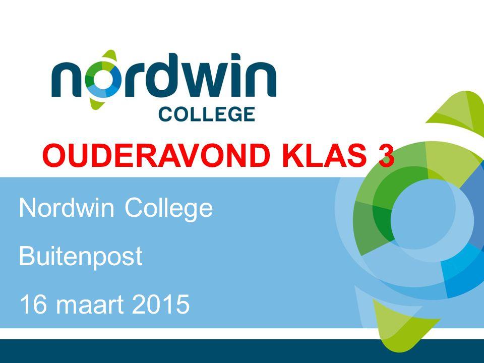 OUDERAVOND KLAS 3 Nordwin College Buitenpost 16 maart 2015