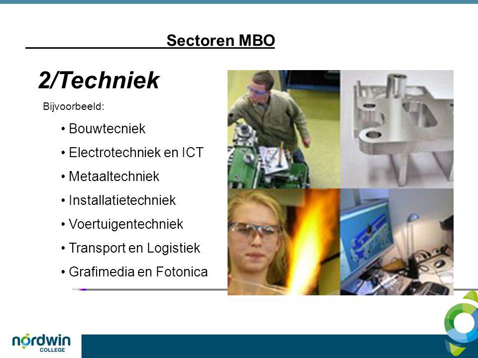 2/Techniek Sectoren MBO Bouwtecniek Electrotechniek en ICT