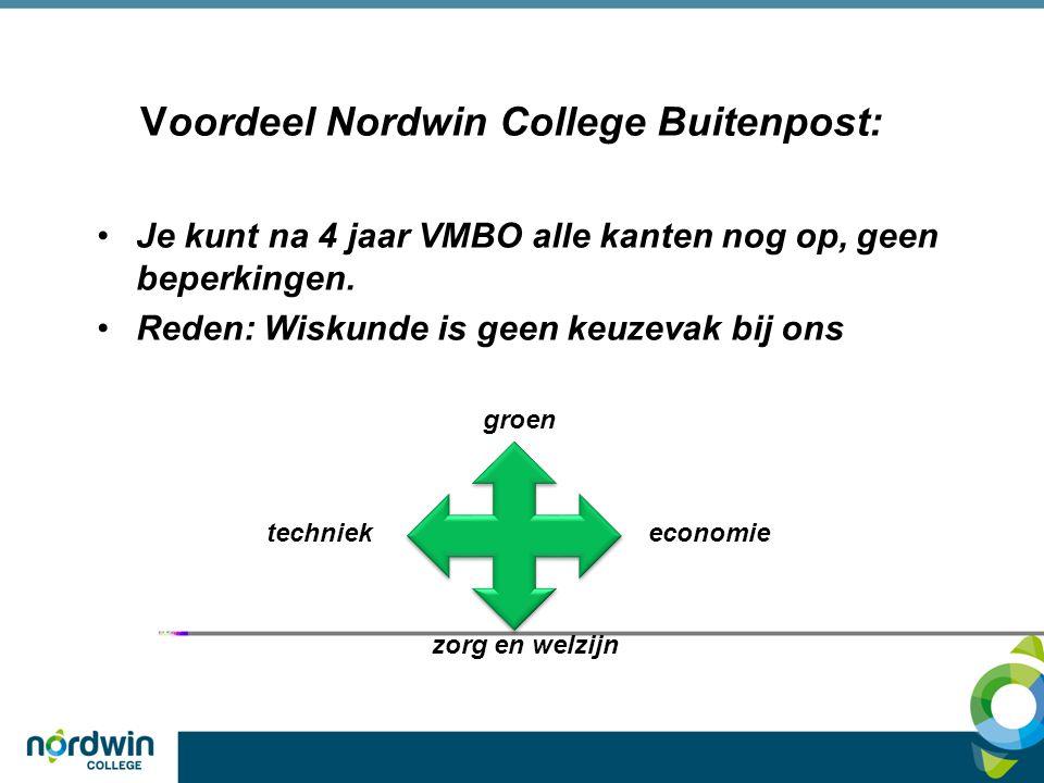 Voordeel Nordwin College Buitenpost: