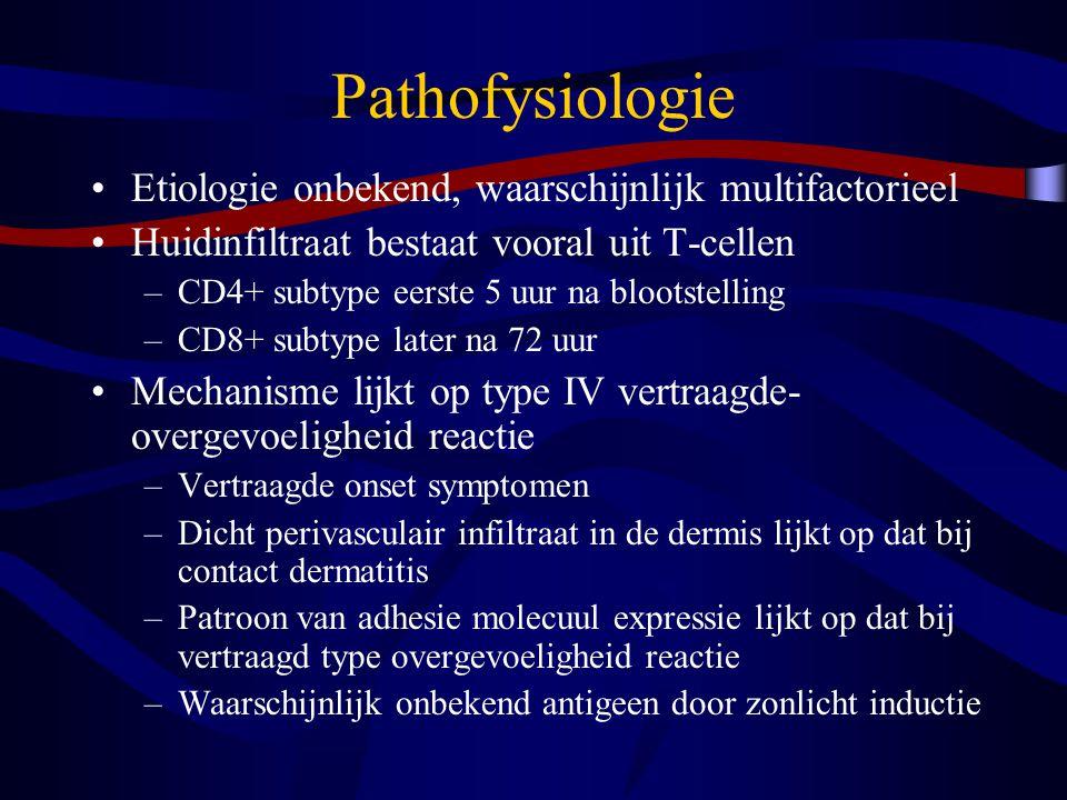 Pathofysiologie Etiologie onbekend, waarschijnlijk multifactorieel