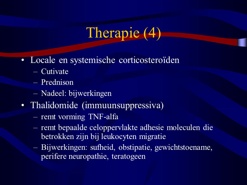 Therapie (4) Locale en systemische corticosteroïden