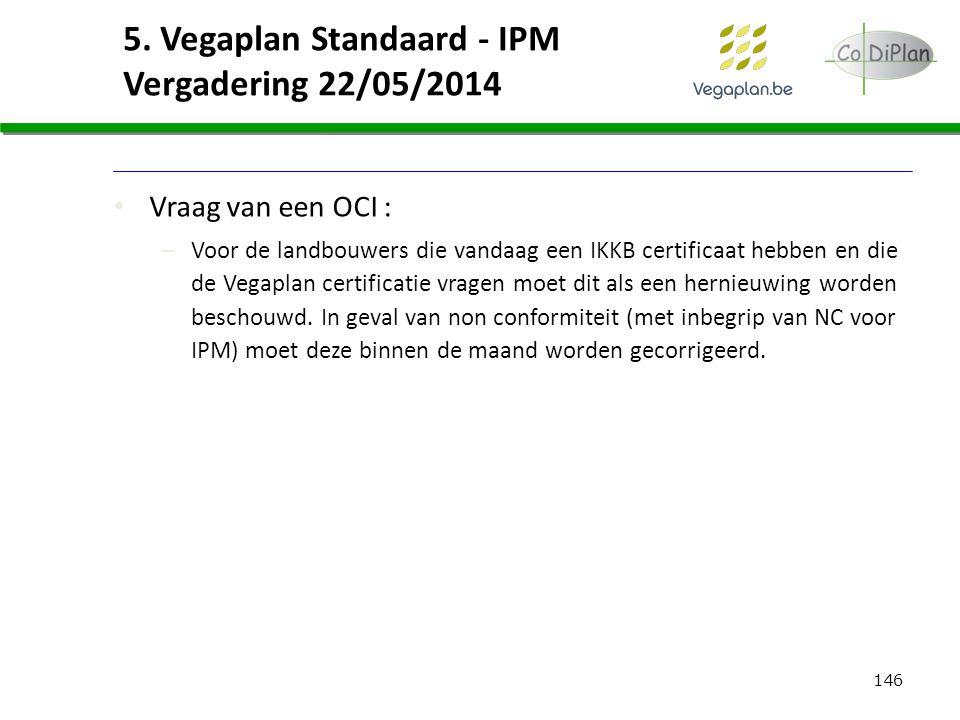 5. Vegaplan Standaard - IPM Vergadering 22/05/2014
