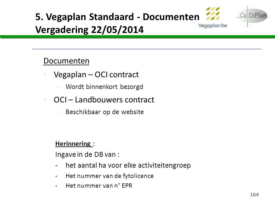 5. Vegaplan Standaard - Documenten Vergadering 22/05/2014