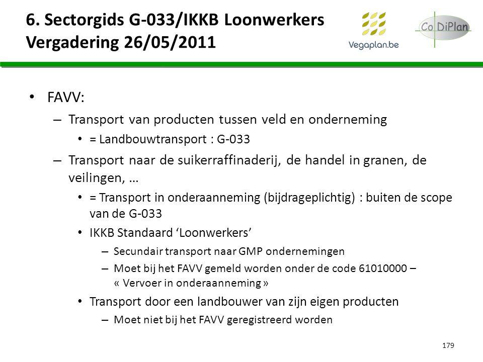 6. Sectorgids G-033/IKKB Loonwerkers Vergadering 26/05/2011