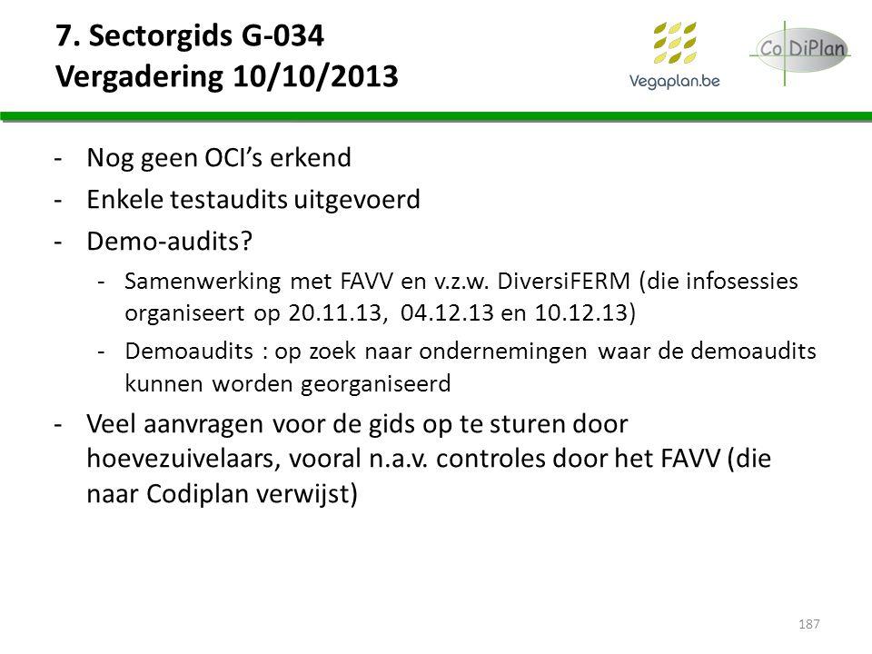 7. Sectorgids G-034 Vergadering 10/10/2013