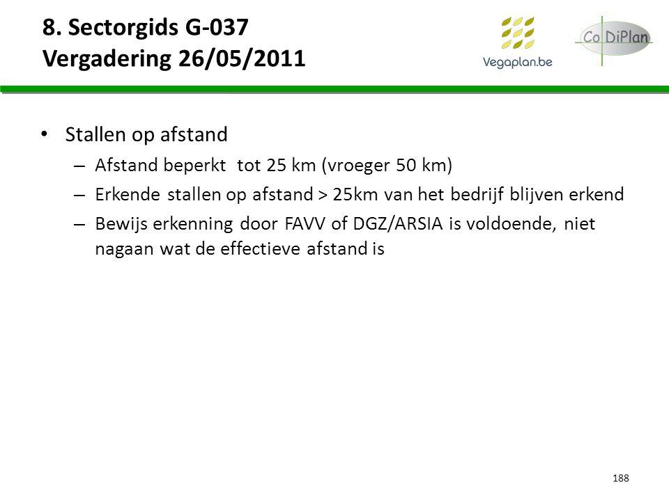 8. Sectorgids G-037 Vergadering 26/05/2011